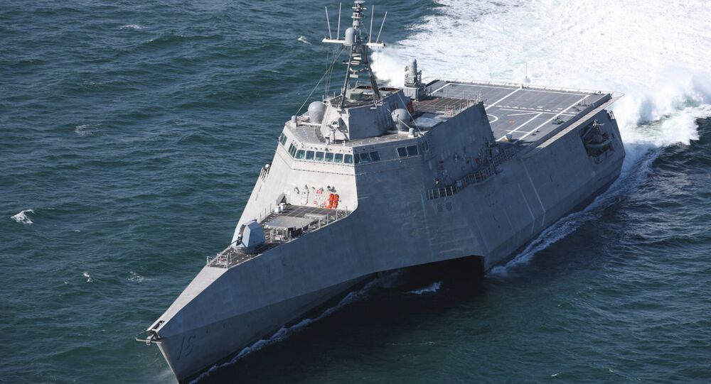 Nave da combattimento costiera di classe Indipendence USS Tulsa in fase di sperimentazione