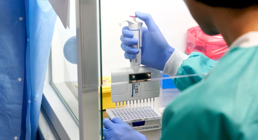 RealTime Laboratories prepares samples for the coronavirus disease (COVID-19) testing with PCR amplification in Carrollton, Texas, U.S. June 24, 2020.
