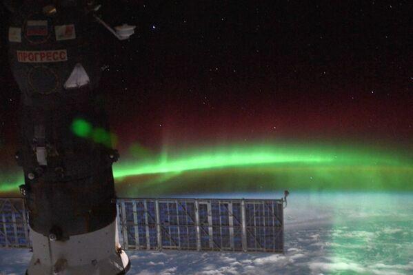 L'aurora boreale vista dalla Stazione Spaziale Internazionale - Sputnik Italia