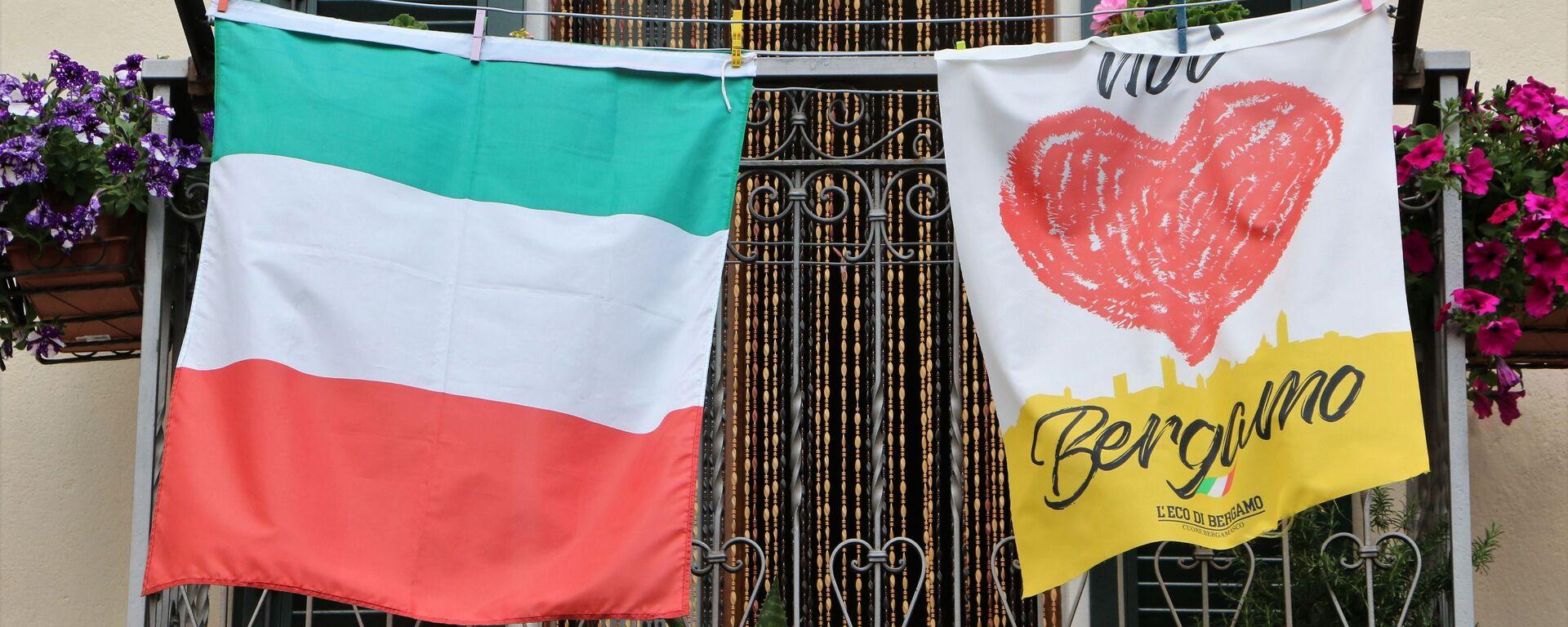 Bandiera italiana a Bergamo - Sputnik Italia, 1920, 03.07.2021