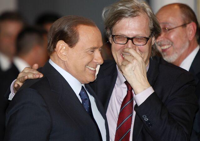 Silvio Berlusconi e Vittorio Sgarbi