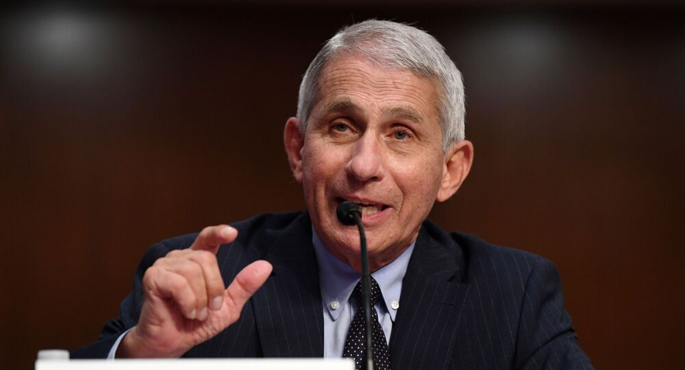 Dr Anthony Fauci, director of the National Institute for Allergy and Infectious Diseases, testifies during a Senate Health, Education, Labor and Pensions (HELP) Committee hearing on Capitol Hill in Washington, U.S., June 30, 2020.