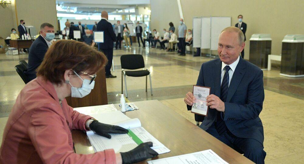 Il voto del presidente Vladimir Putin