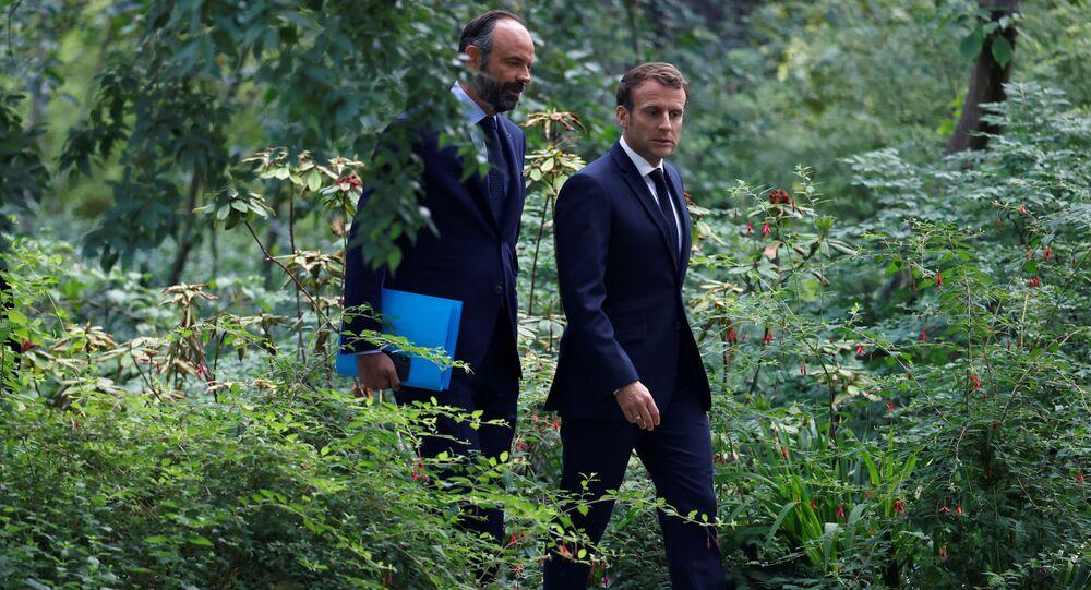 Emmanuel Macron et Édouard Philippe vont à la rencontre avec les membres de la Convention citoyenne pour le climat (CCC) à l'Elysée