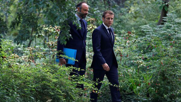 Emmanuel Macron et Édouard Philippe vont à la rencontre avec les membres de la Convention citoyenne pour le climat (CCC) à l'Elysée - Sputnik Italia
