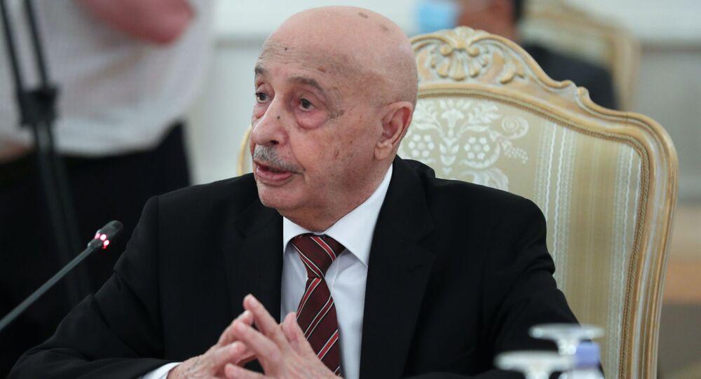 Il presidente della Camera dei rappresentanti della Libia orientale, Aquila Saleh