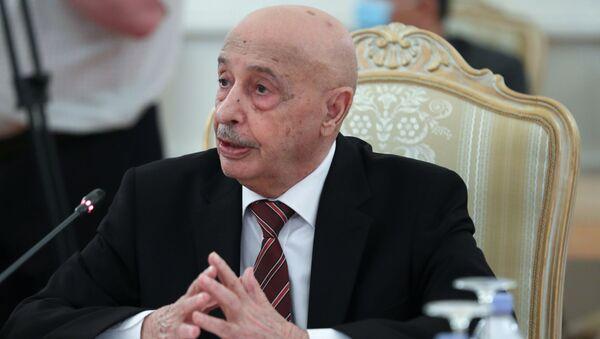 Il presidente della Camera dei rappresentanti della Libia orientale, Aquila Saleh - Sputnik Italia