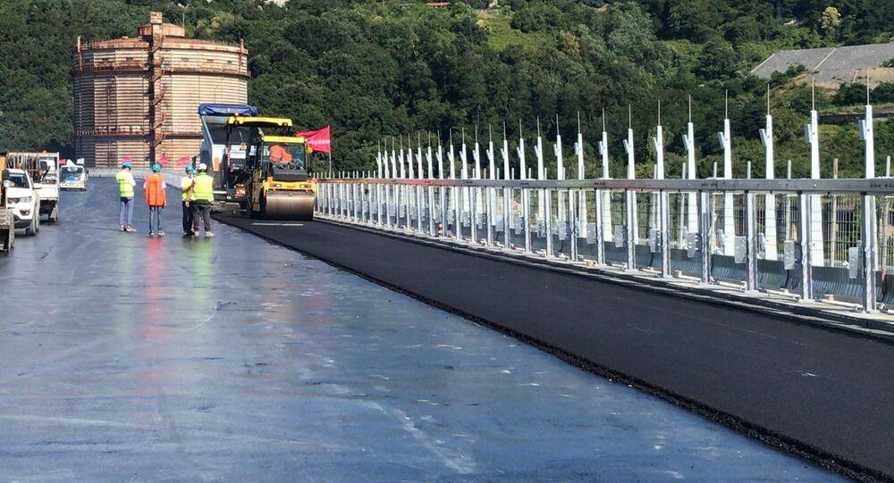 Costruzione del nuovo ponte a Genova