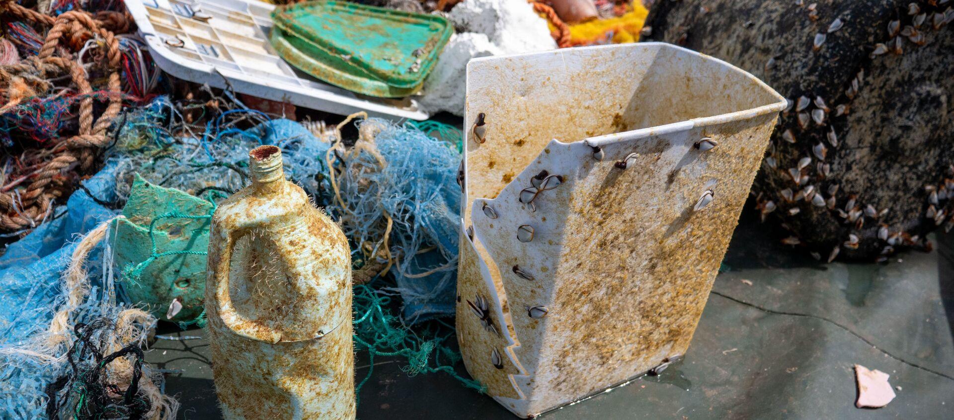 Great Pacific Garbage Patch: rimosse più di 100 tonnellate di rifiuti dall'isola di plastica più grande del mondo - Sputnik Italia, 1920, 28.11.2020