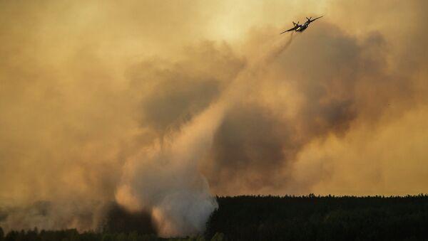 Un aereo spegne incendio boschivo nella zona di Chernobyl - Sputnik Italia