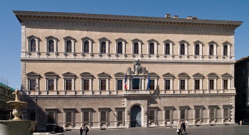 Palazzo Farnese a Roma, sede dell'ambasciata di Francia in Italia