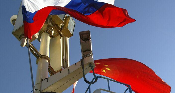 Le bandiere della Russia e della Cina