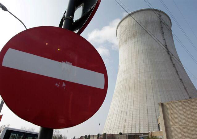 Uno dei tre reattori della centrale nucleare belga di Tihange
