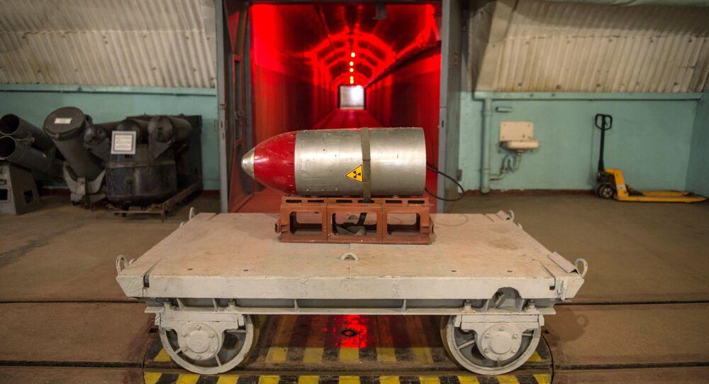 Una testata nucleare nel museo della Marina militare a Balaklava, Crimea.