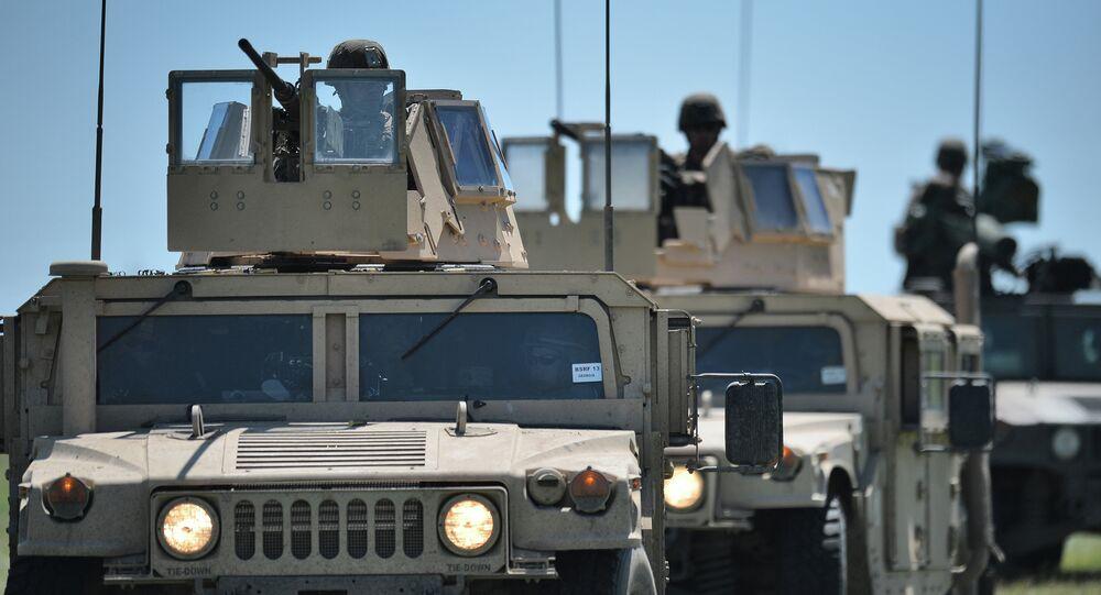 Marines USA durante esercitazioni militari
