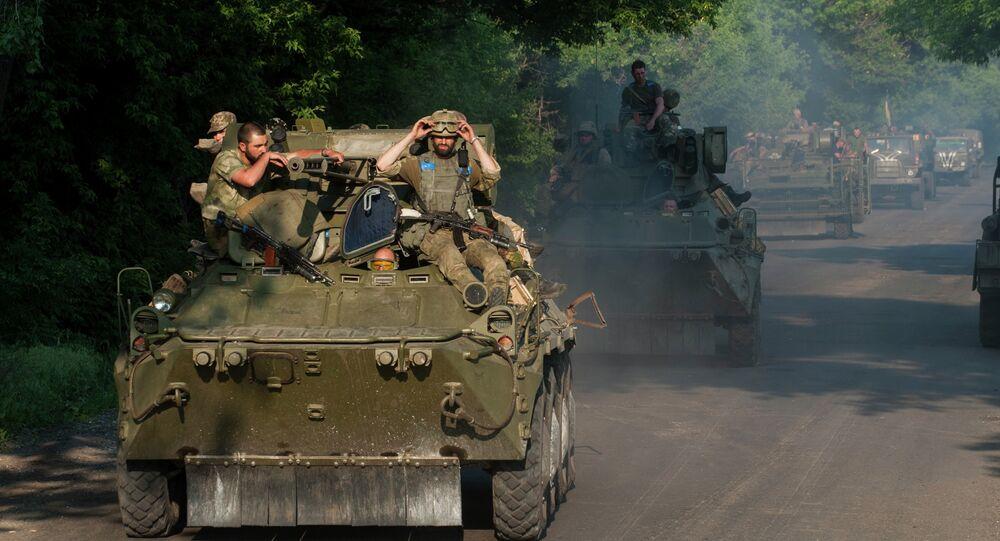 Soldati ucraini nel Donbass