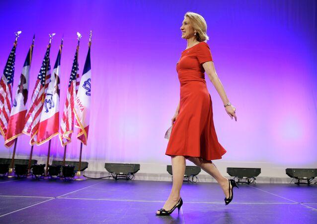 Carly Fiorina, candidato alla presidenza USA del partito repubblicano