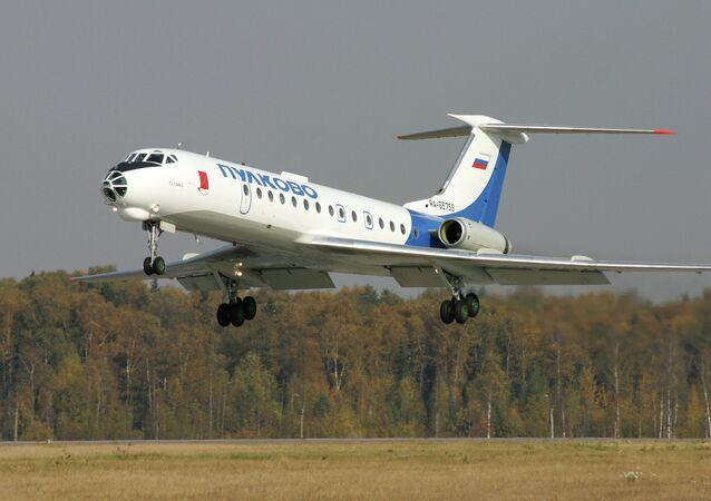 A Tupolev Tu-134 Crusty jetliner