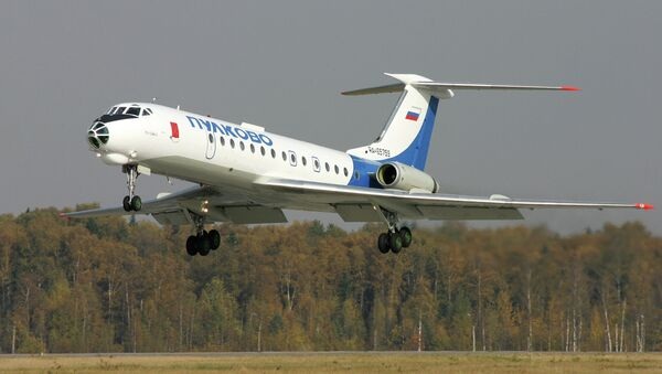 A Tupolev Tu-134 Crusty jetliner  - Sputnik Italia
