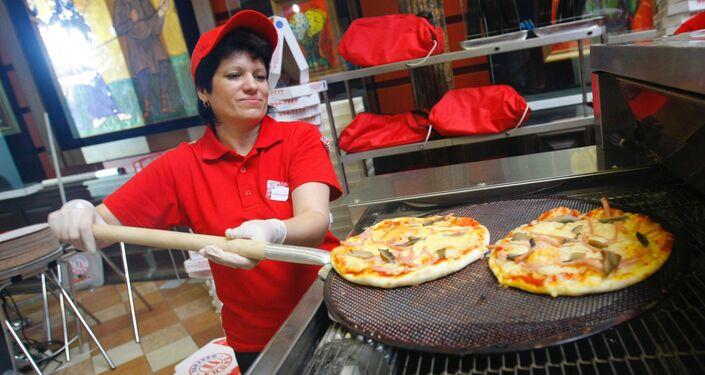Il Festival di pizza a Mosca.  2007