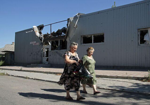 Danni bombardamenti a Donetsk