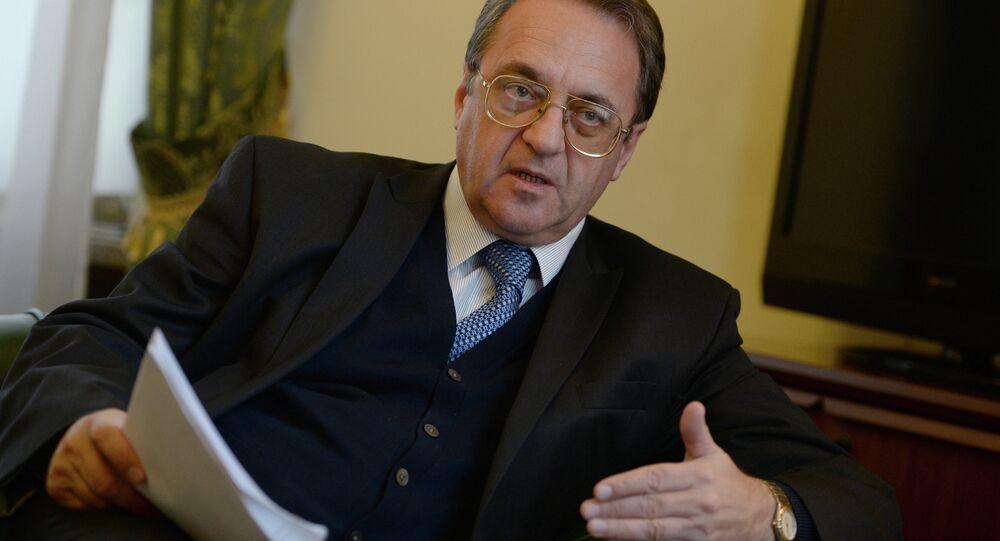 Vice ministro degli Esteri russo Mikhail Bogdanov